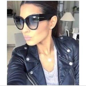 Tom Ford Anoushka TF371 Black Cat Eye Sunglasses